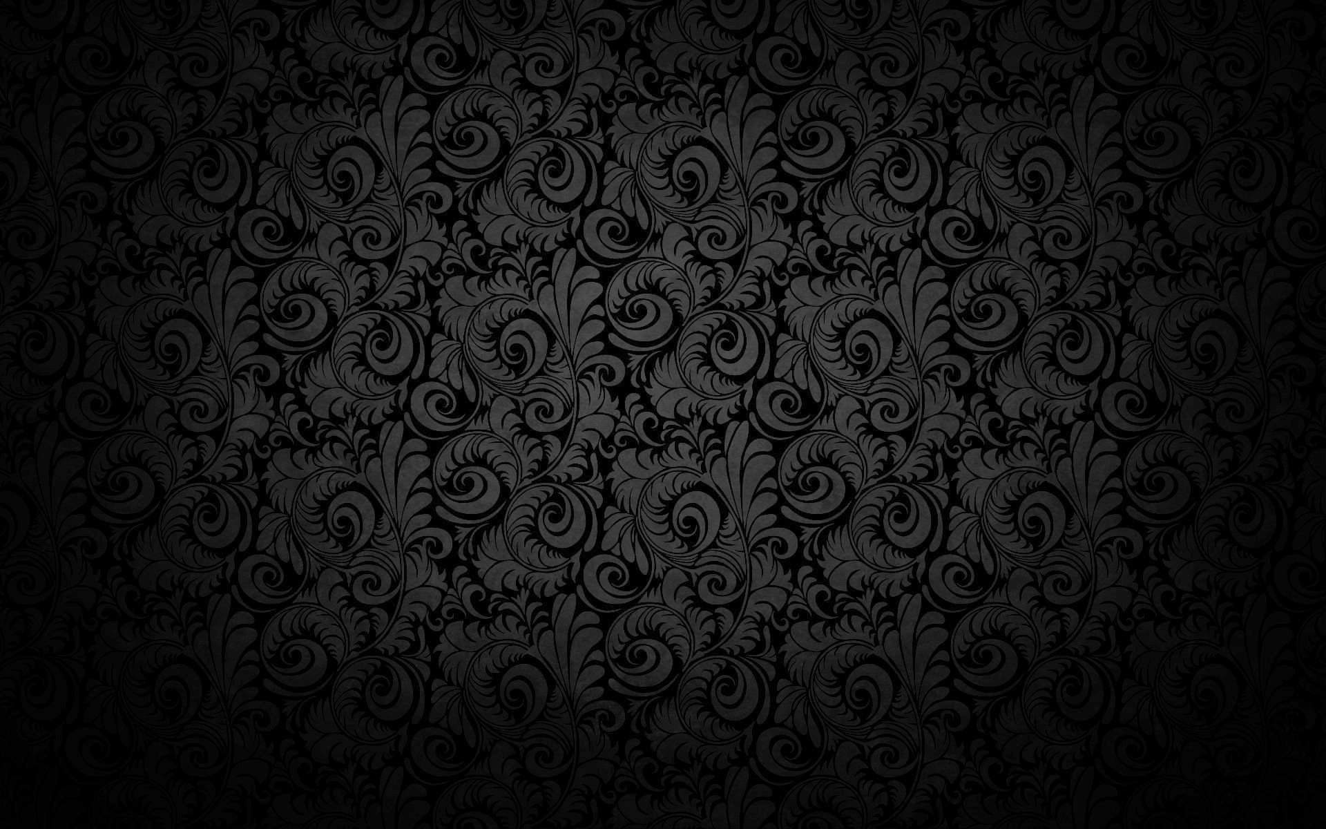 Black Wall Paper Decor : Cool black background design wallpapers