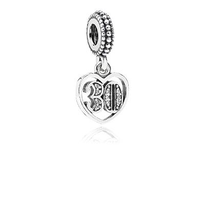 1f8e2b252 A gift to my daughter celebrating her 30th birthday PANDORA | 30 years of  love, clear cz