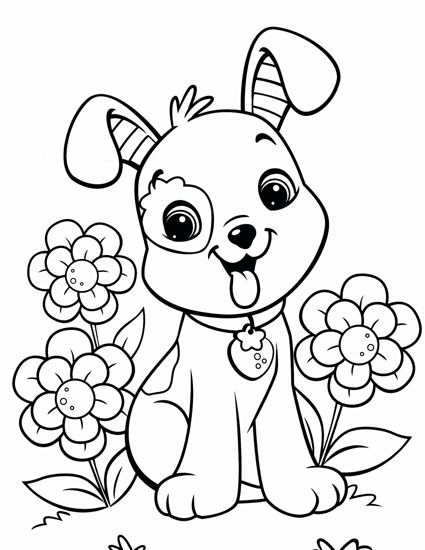 Flower Coloring Pages Of Animals For Kids Puppy Coloring Pages Cool Coloring Pages Animal Coloring Pages
