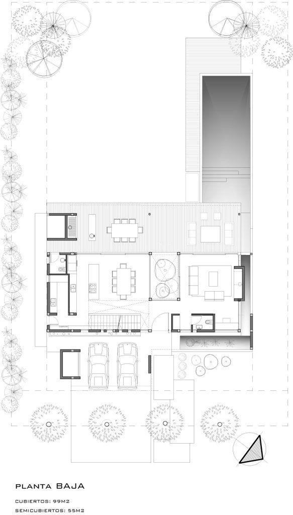 Casa tana estudio pka planta baja interior - Planos de casas de planta baja ...