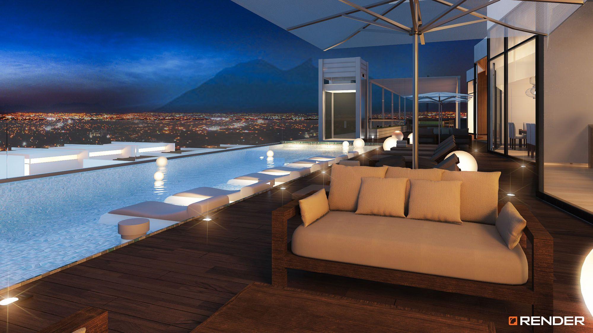 Nacion building residential monterrey m xico render for Decoracion de interiores monterrey