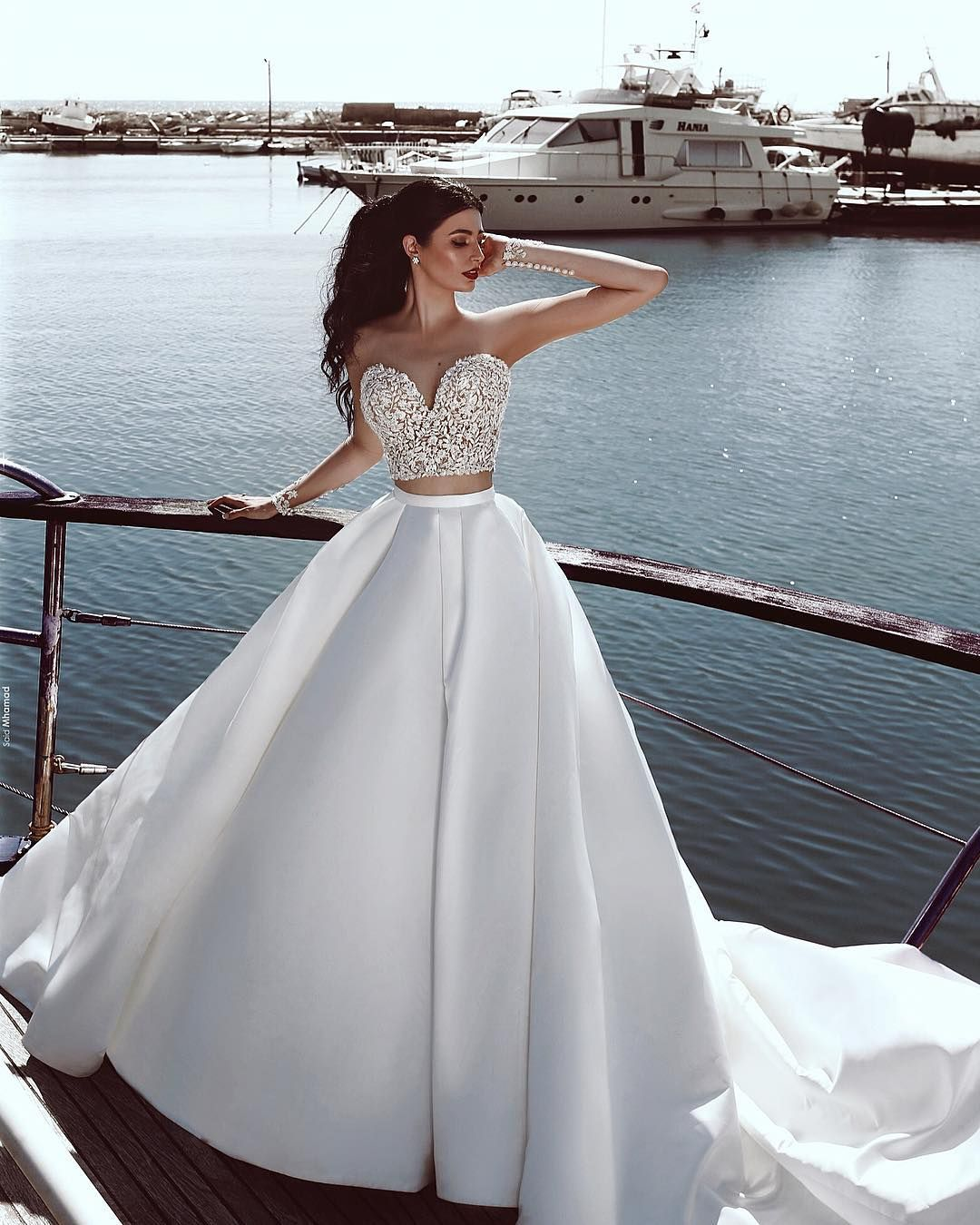 The Sky S The Limit For Our Beautiful Bride Michelle Saidmhamadphotography Ball Gown Wedding Dress Backless Wedding Dress Bridal Gowns