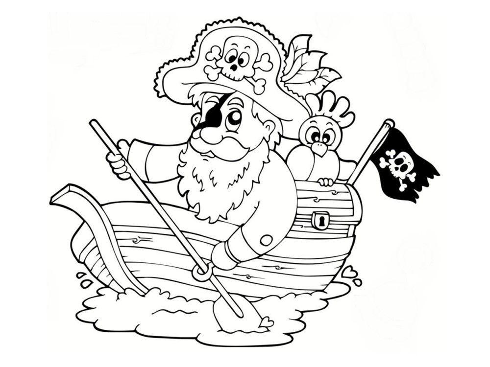 Coloriage De Cochon Pirate.Coloriage D Un Perroquet De Pirate En Vol Coloriage Perroquet