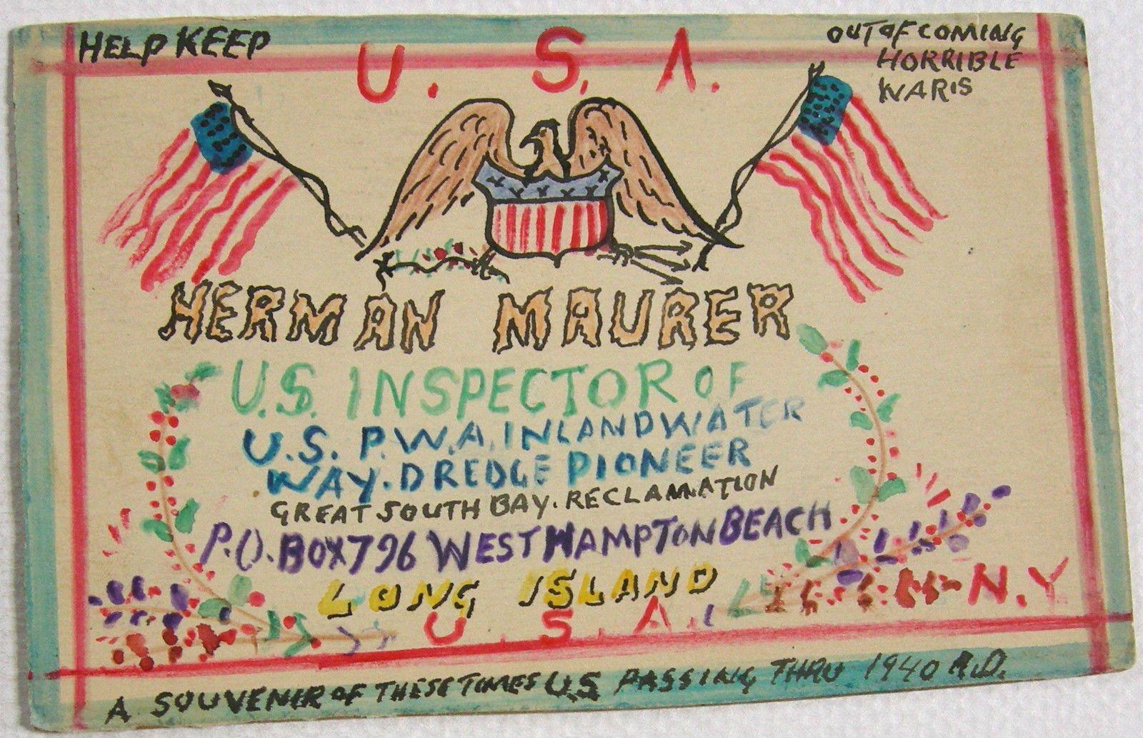 Postcard Odd Homemade Card 1940 US Flags Cross Anti War Religious Patriotic | eBay