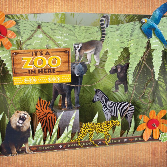 Zoo Diorama Paper House Cut