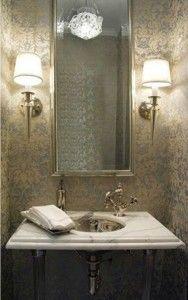 Glamorous Powder Room Powder Room Home Design Decor Bathroom Decor