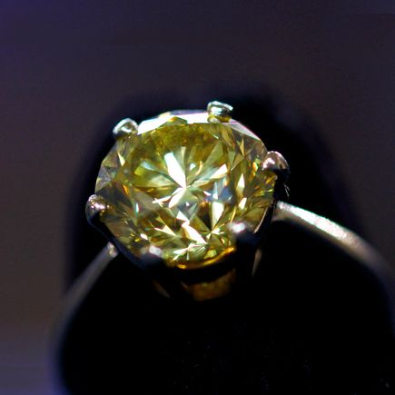 Fancy Intense Yellow Diamond Antiques Roadshow Raisal 140 000 To 160 Ringsyellow Diamondsblank