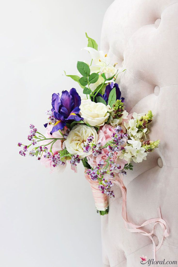 Spring Bridal Bouquets in Pink, Purple, Green, and Cream Tones ...