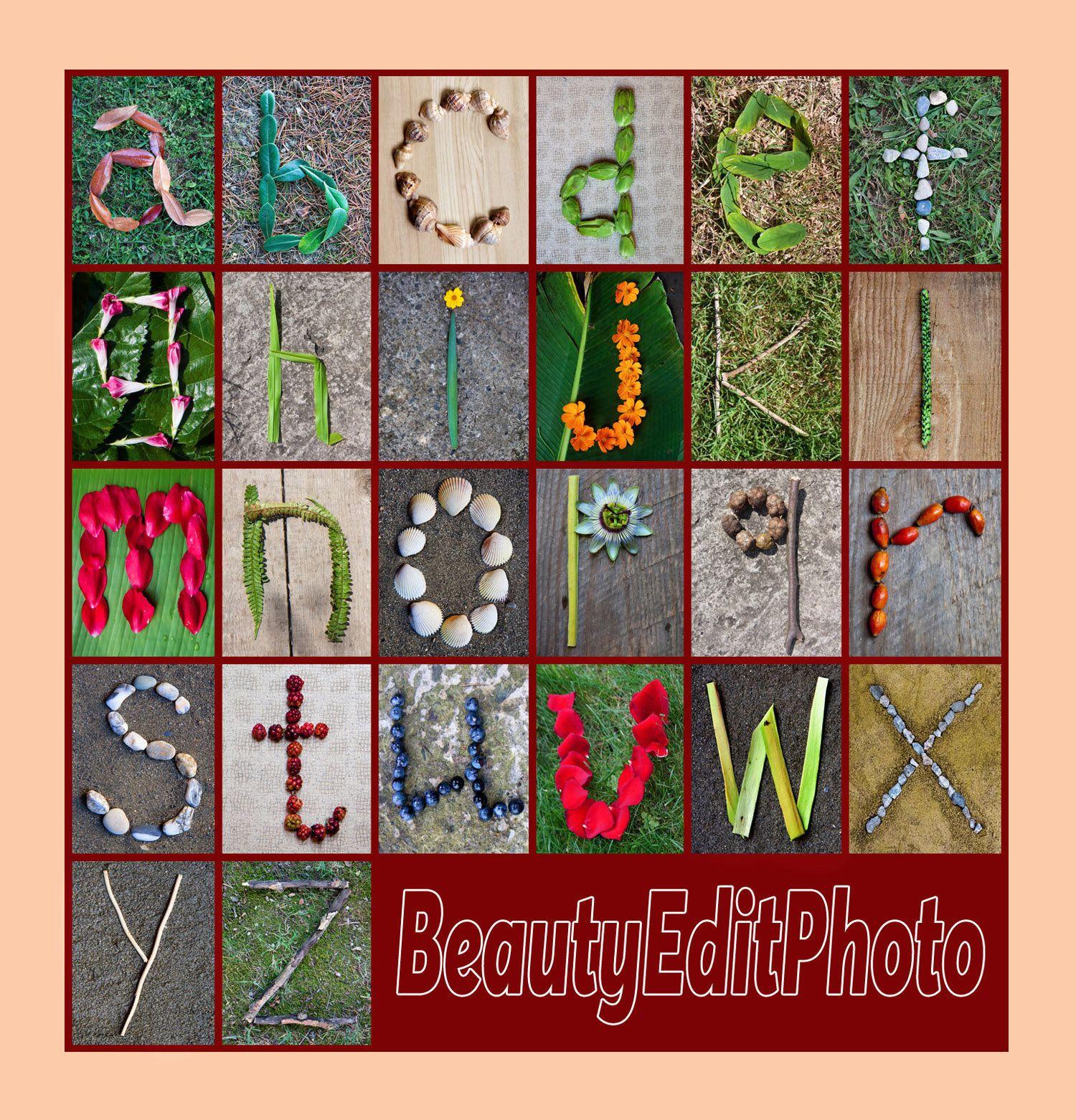 Alphabet Photography Nature Themed Abc Poster Preschool Decor Etsy Alphabet Photography Alphabet Print Alphabet Nursery Art