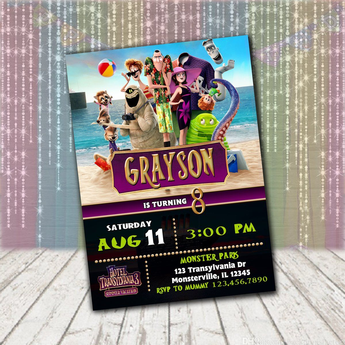 Personalized /& Custom Printed Hotel Transylvania Birthday Party Banner Poster