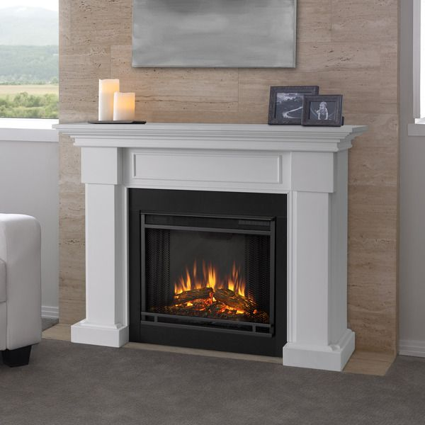 Real Flame Hillcrest White 48-inch Electric Fireplace | Home ...