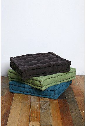 Tufted Corduroy Floor Pillow | Floor pillows, Pillows and Meditation ...