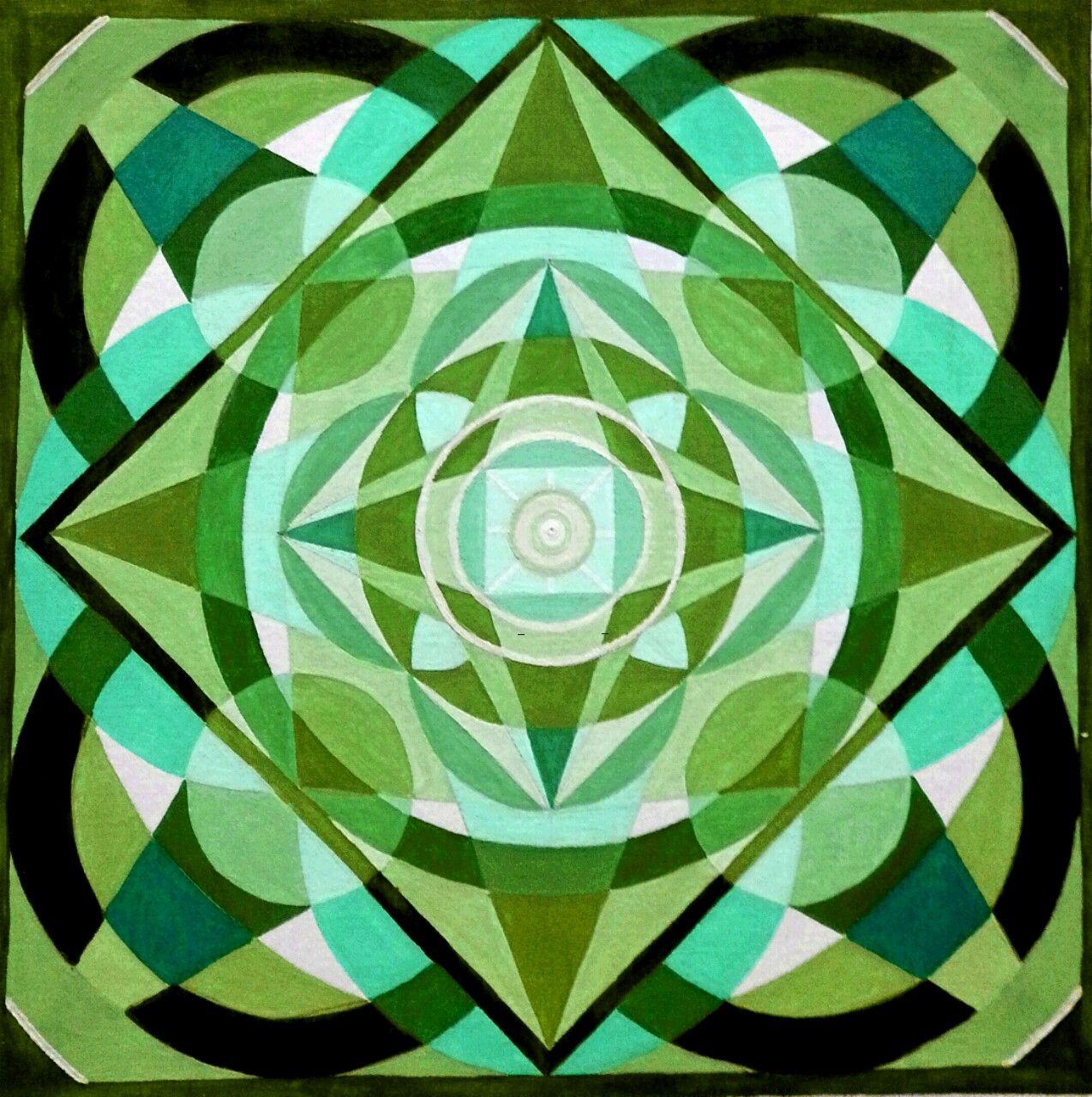 Mandala Acryl Painting von SuSaBe