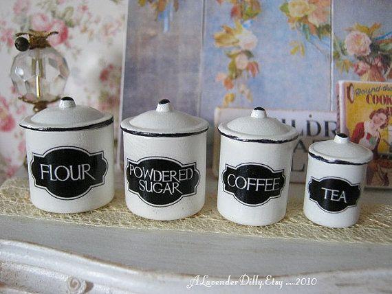 Klassische Küche Kanister Für Dollhouse