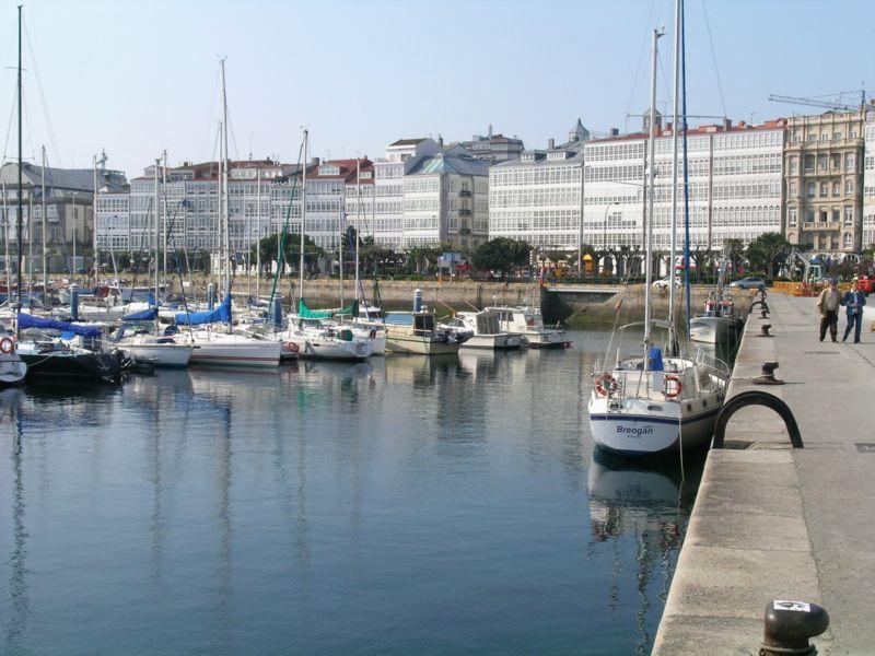 A Marina E As Galerias A Coruña Galicia Spain España A Coruña Ciudades
