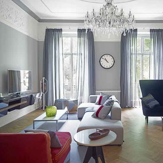 Living Room Design Tv Delectable Renovated Victorian London Home  Living Room Tv House Tours And Design Inspiration