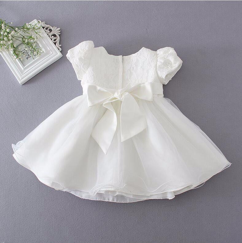 Del cordón del bebé vestidos de bautizo 1 year vestido de cumpleaños ...