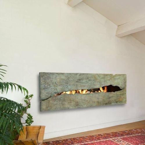 A Rip In Time Metal Fireplace Fireplace Design Custom Fireplace