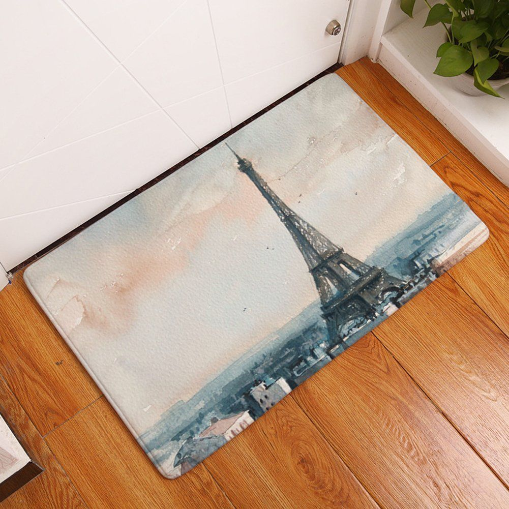 YJ Bear Thin Charming Eiffel Tower Print Non Slip Floor Mat Rectangle  Doormat Entry Mat Home Decor Carpet Kitchen Floor Runner Indoor X * For  More ...