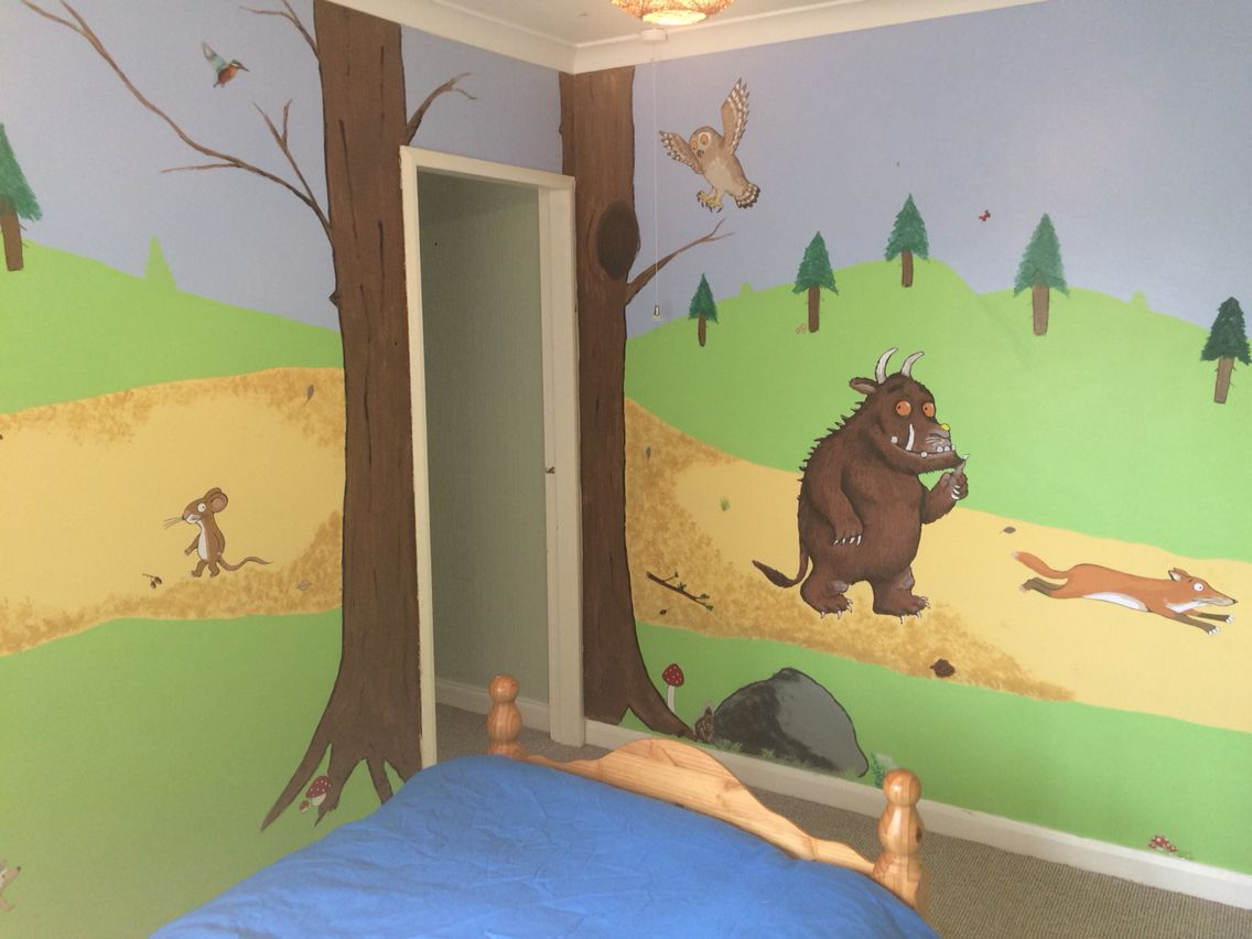 Sams bedroom i mainly painted everything but used wall stickers sams bedroom i mainly painted everything but used wall stickers for the main gruffalo characters amipublicfo Image collections