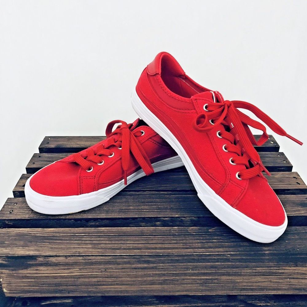 Red Canvas Easy Spirit Tennis Shoe