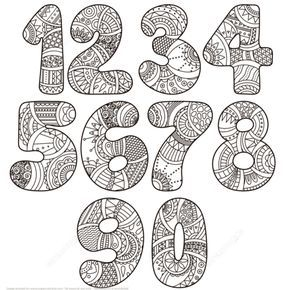 Zentangle Numbers Set 0 9 Coloring Page From Zentangle Numbers Category Select From 21842 Printable Cra Coloring Pages Free Printable Coloring Pages Zentangle