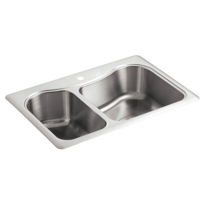 Kohler Staccato Top Mount Double Bowl Kitchen Sink With Single