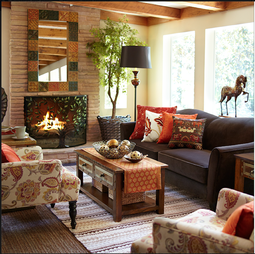 Fall at Pier 1 | Fall living room, Fall living room decor ...
