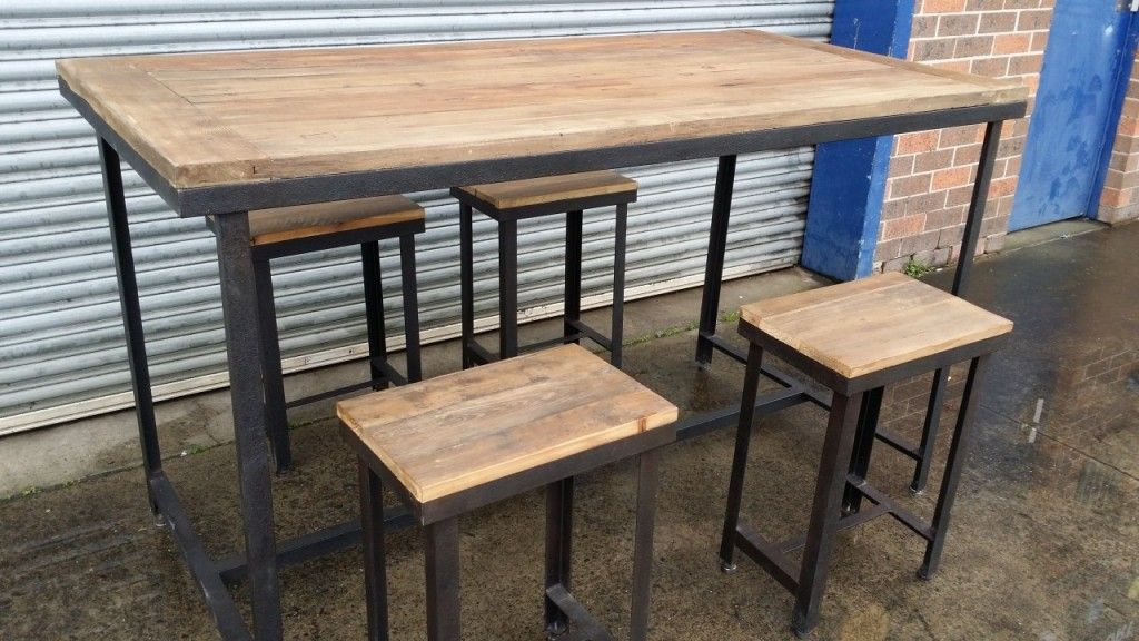Rustic Counter Height Table Set  Craftoffice  Pinterest Delectable Pub Height Dining Room Sets Design Ideas