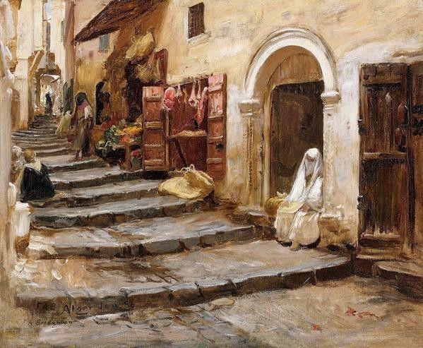 Algérie - Peintre American Frederick Arthur Bridgman (1847 ...
