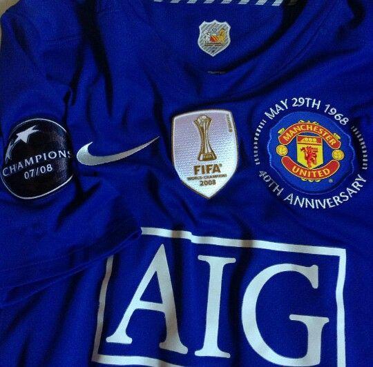d94a4e5b1 Manchester United 40th Anniversary Soccer Jersey