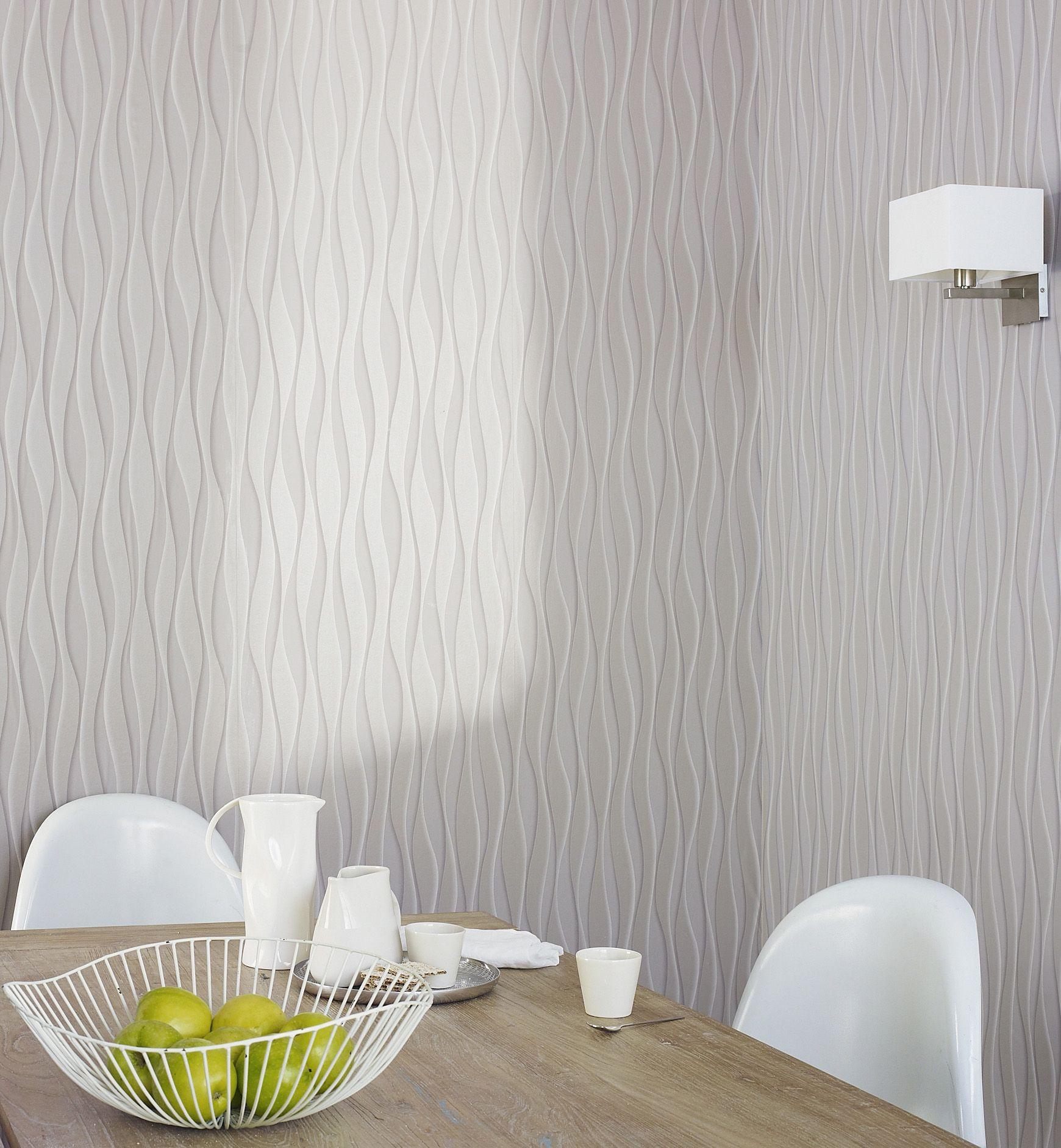 papier peint vinyle expans estuary taupe chambre. Black Bedroom Furniture Sets. Home Design Ideas