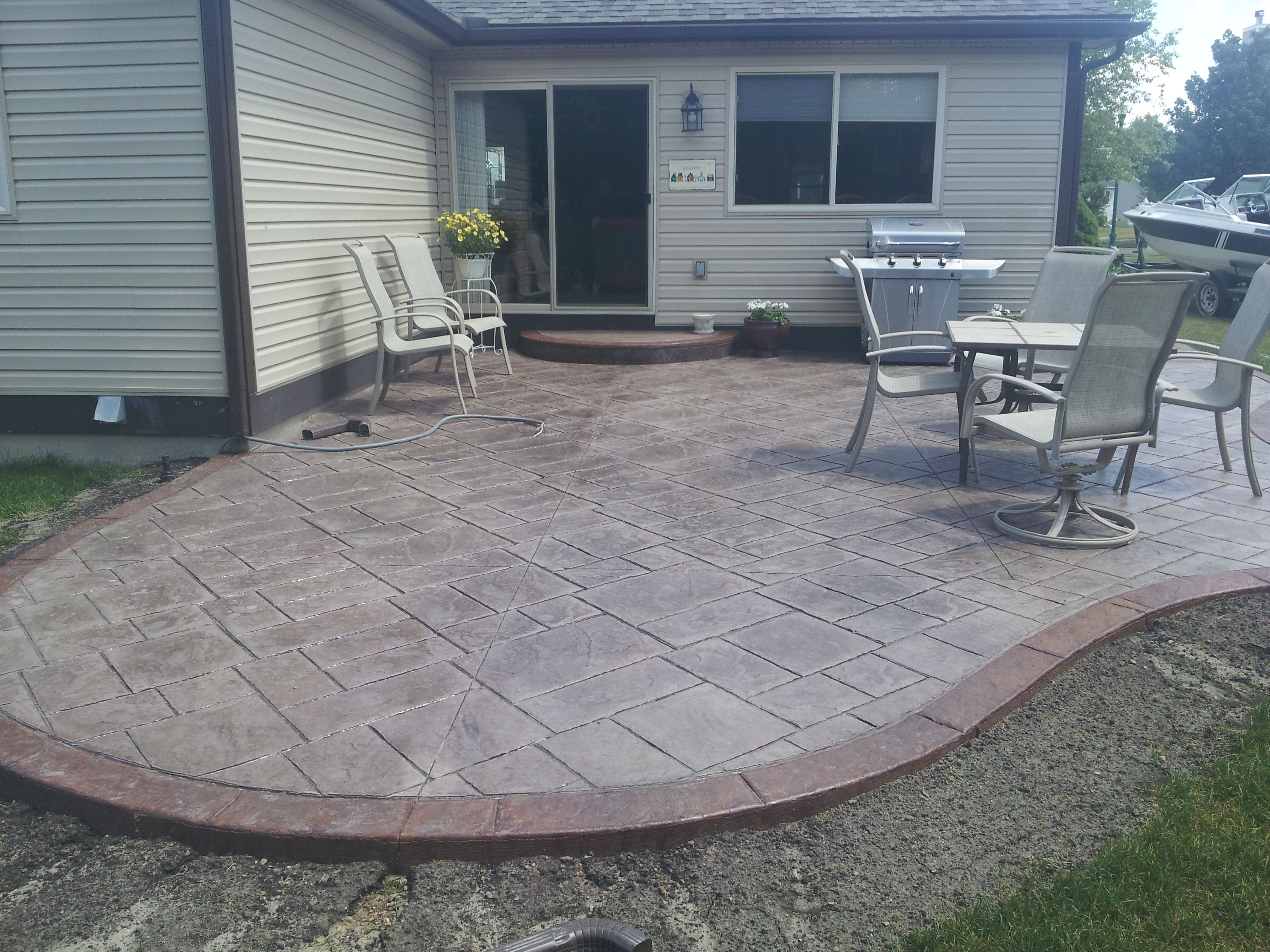 cost for concrete patio overlay poured fabulous decorative ... - Ideas For A Concrete Patio