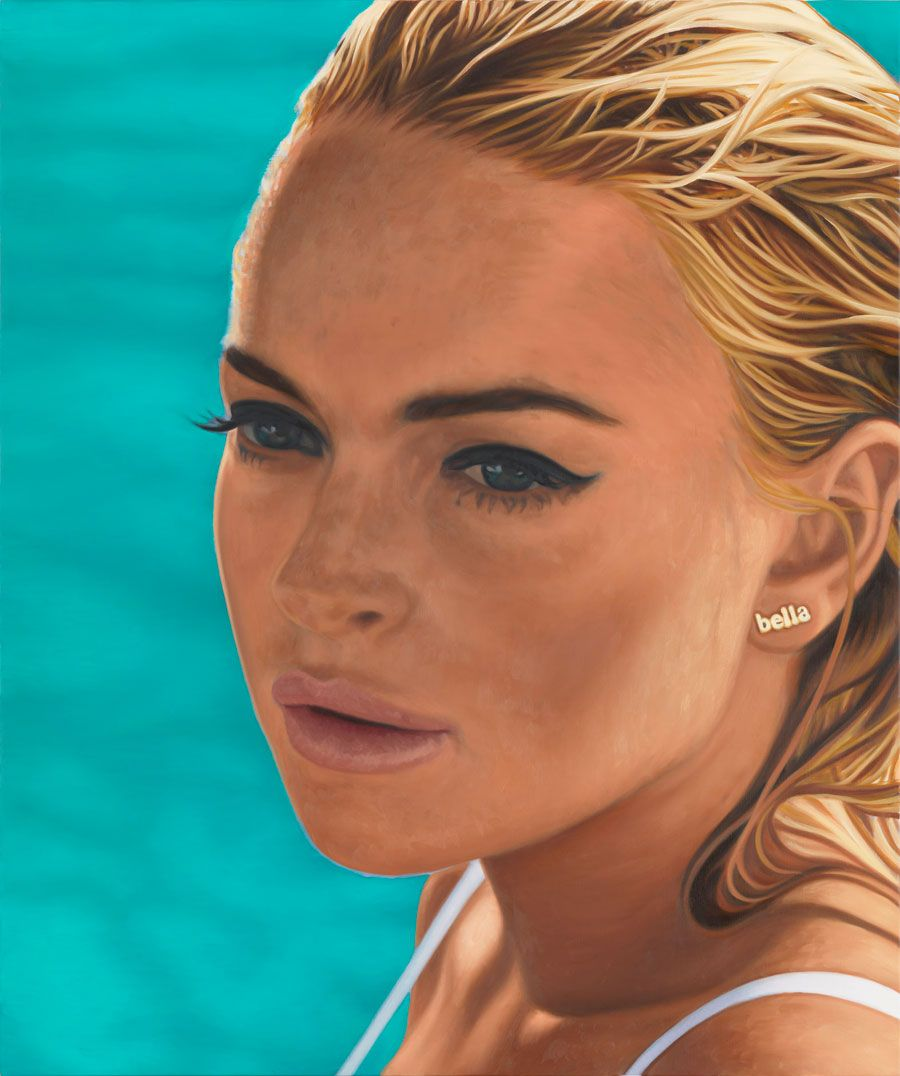 RICHARD PHILLIPS Lindsay I, 2012 Oil on canvas 48 x 40 inches  (121.9 x 101.6 cm)