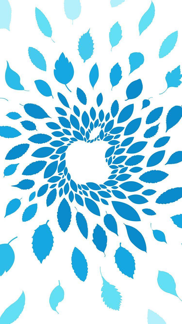 vj77applestoreleafsartpatternblue Apple wallpaper