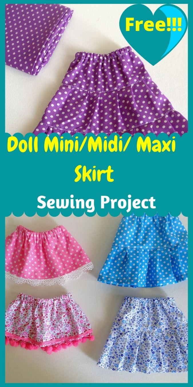 Fun and Easy Doll Skirt Sewing Pattern - Sew Crafty Me
