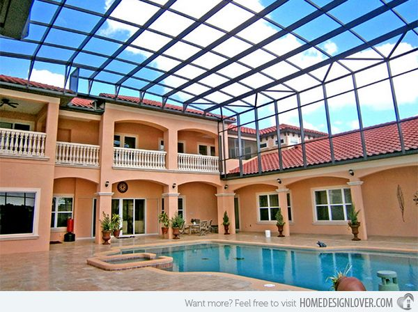 15 Stylish Pool Enclosure For Year Round Pool Usage Home Design Lover Luxury Swimming Pools Pool Enclosures Luxury Pools