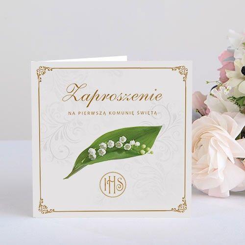 Zaproszenia Komunijne Kolekcja Konwalie Lux 10szt 8574249141 Oficjalne Archiwum Allegro Place Card Holders Place Cards Cards