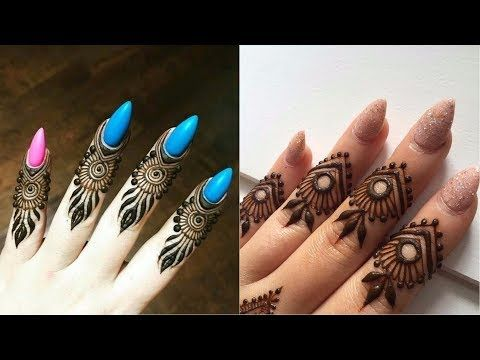 Mehndi Designs For Fingers Step By Step : 2 classic diy fingers henna design how to make easy finger mehndi