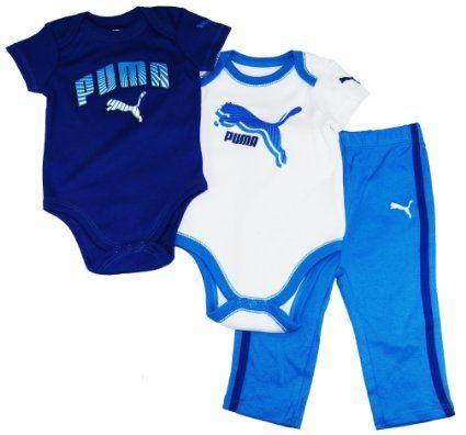 059422c0e34fe Amazon.com: Puma Baby-Boys 0-9M Blue Moon Rays Sport Layette 3-Piece ...