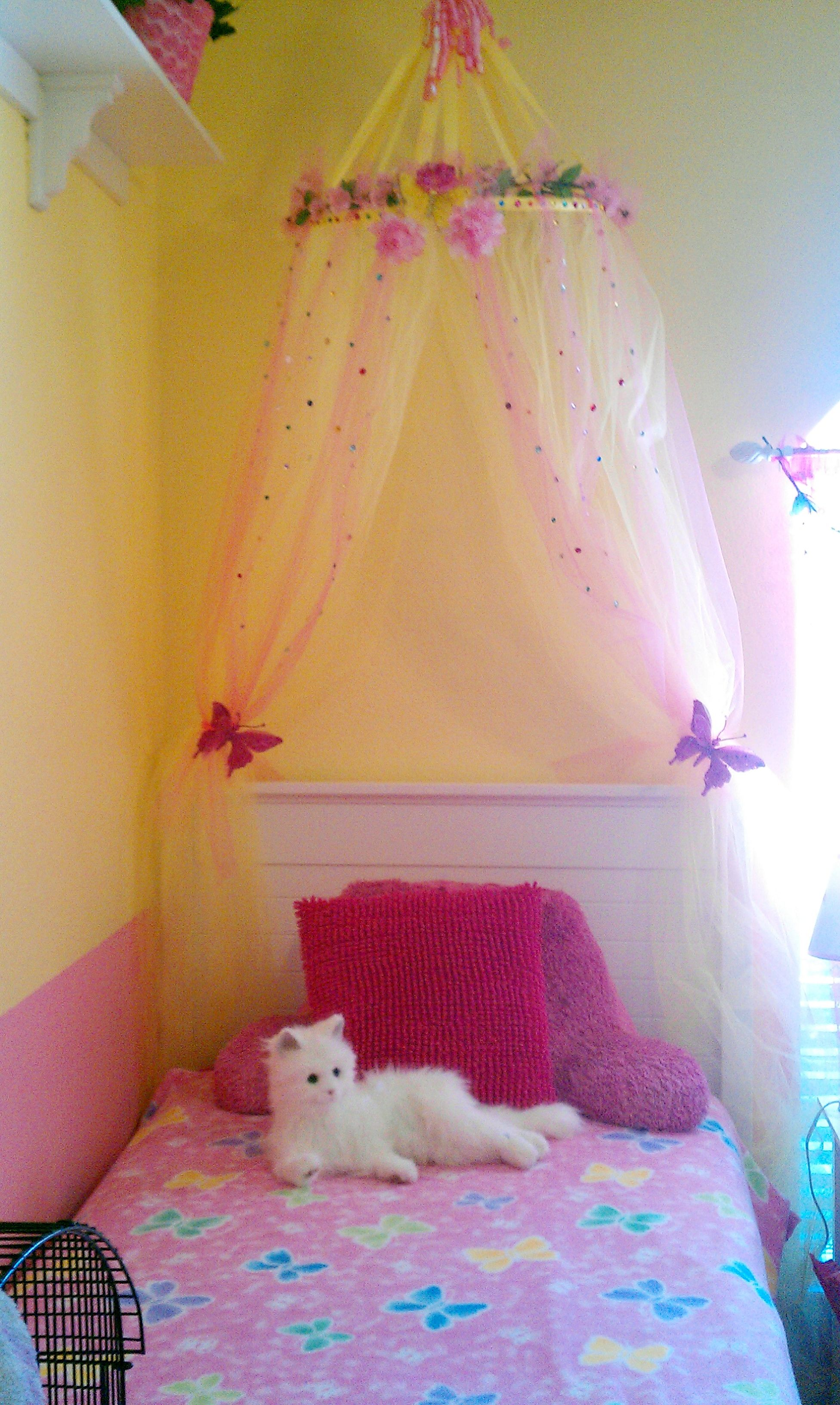Little Girl Canopy Bed Ideas Girls Will Have A Canopy Each In White Love The