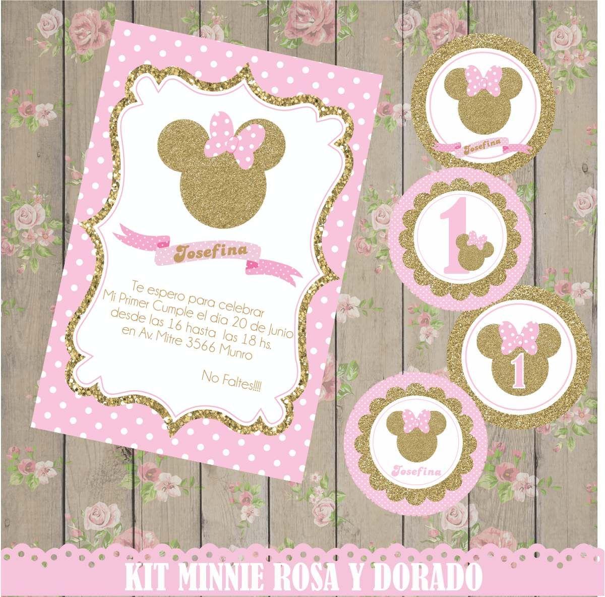 Resultado de imagen para cumplea os minnie rosa y dorado for Decoracion de cumpleanos rosa y dorado