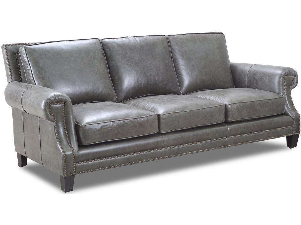 Drexel Living Room Select Leather Sofa Sl1702 S Homestead House Conroe Tx