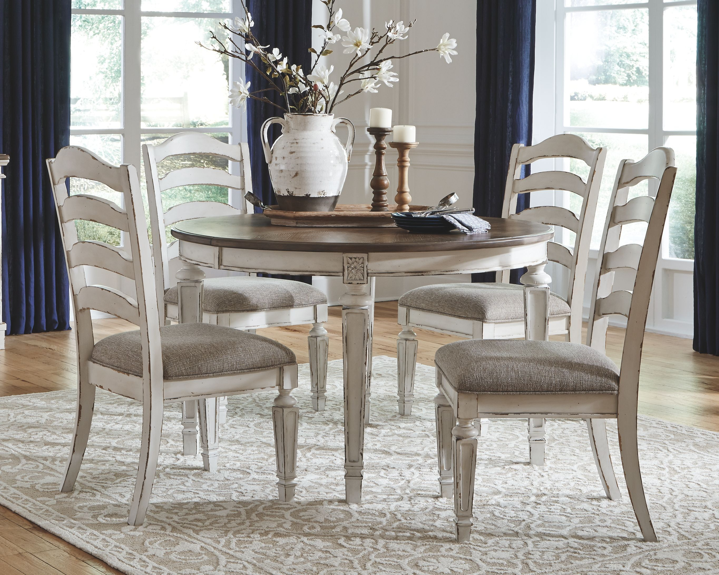 18++ Realyn chipped white dining set Inspiration
