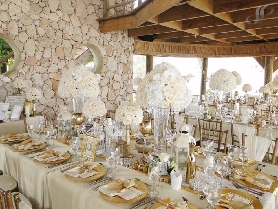 Jellyfish Restaurant Wedding Decorated By Clara And Gianna White Gold Orchids