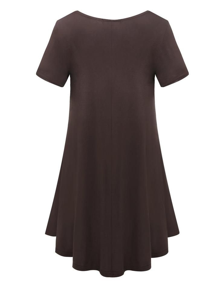 be5e12ee68 Womens Comfy Swing Tunic Short Sleeve Solid T-Shirt Dress in 2019 ...