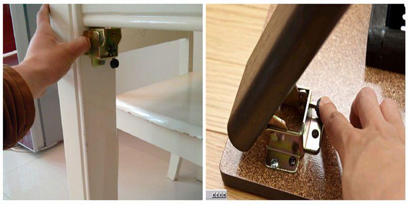 90 Degree Self Lock Folding Table Legs Hinge Folding Hinge