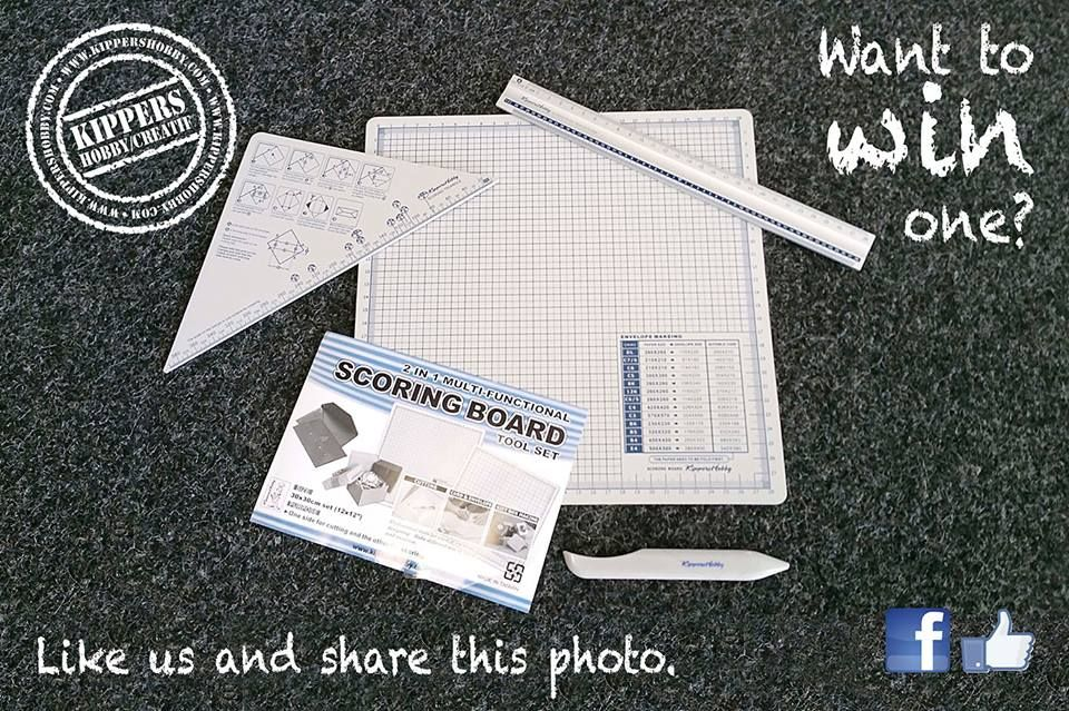 Would you like to become one of the 5 winners of our super handy scoring board?  Like our Facebook page and share this photo!! With our 2 in 1 Multifunctional Scoring Board you can easily make cards, envelopes and (gift) boxes! Friday the 29th of May we will announce the 5 winners!