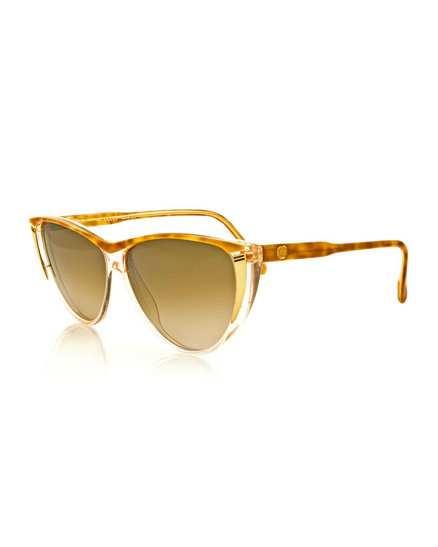 Gucci Vintage Cat-Eye Sunglasses, Brown