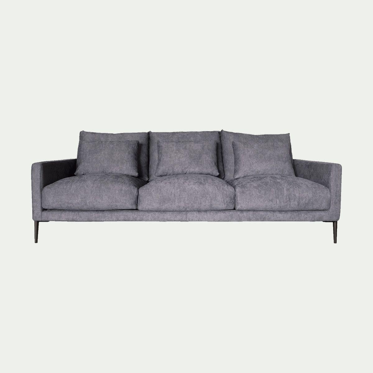 Design Distingue Cet Elegant Canape Droit En Tissu Gris Borie Est